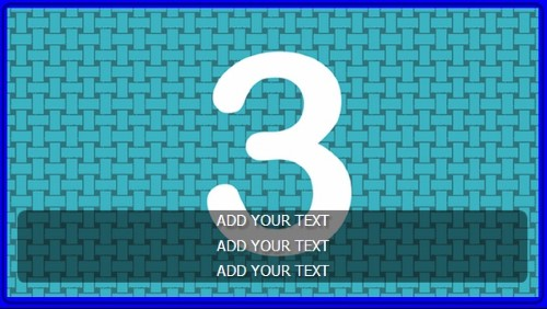 3 Image Slideshow With Text And Border - 10 Seconds Rotation in Blue color