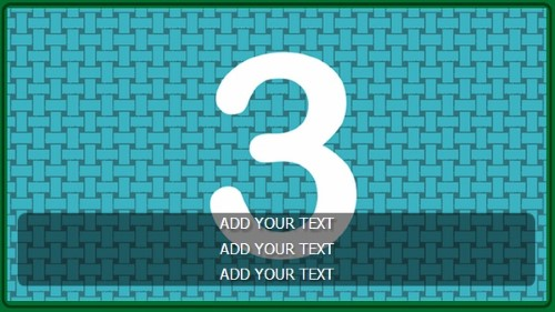 3 Image Slideshow With Text And Border - 10 Seconds Rotation in Green color