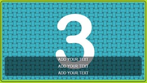 3 Image Slideshow With Text And Border - 10 Seconds Rotation in Lime color