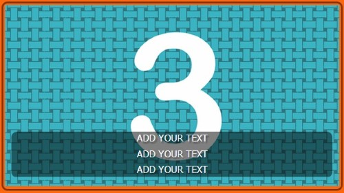 3 Image Slideshow With Text And Border - 10 Seconds Rotation in Orange color