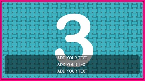 3 Image Slideshow With Text And Border - 10 Seconds Rotation in Pink color