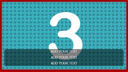 3 Image Slideshow With Text And Border - 10 Seconds Rotation in Red color
