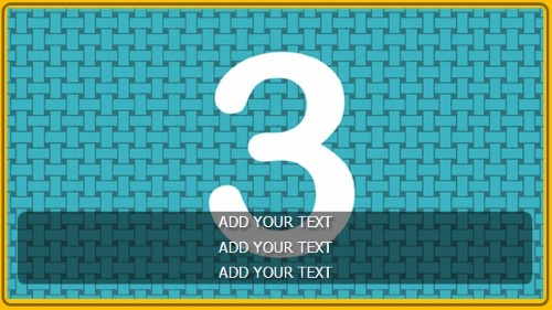 3 Image Slideshow With Text And Border - 10 Seconds Rotation in Yellow color