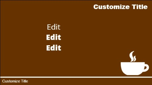 3 Product / Service with Image in Brown color