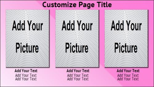 3 Product / Service with Image in Pink color