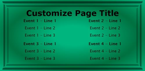 4 Events / Schedules in Green color