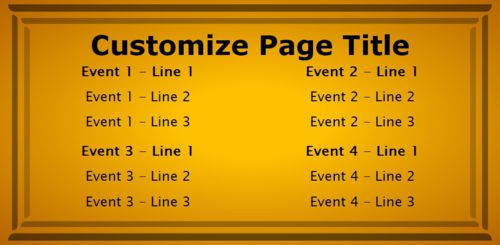 4 Events / Schedules in Yellow color