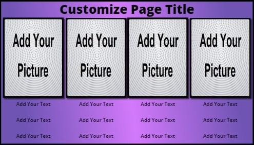 4 Product / Service with Animated Background in Purple color
