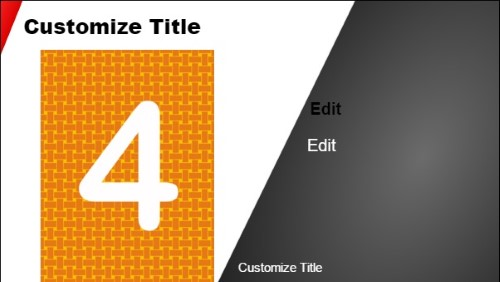 4 Product / Service with Image in Grey color