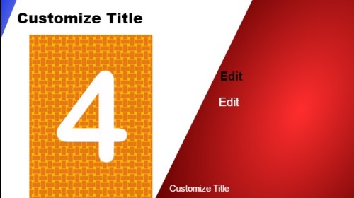 4 Product / Service with Image in Red color