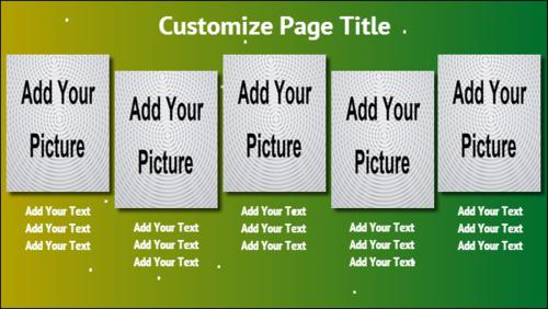 5 Product / Service with Image in Green color