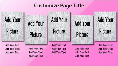 5 Product / Service with Image in Pink color
