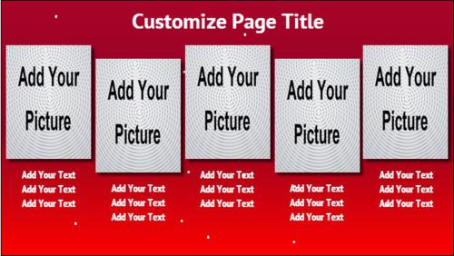 5 Product / Service with Image in Red color