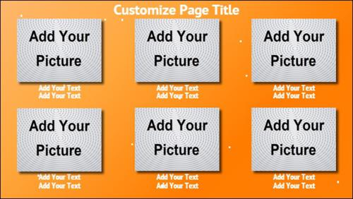 6 Product / Service with Image in Orange color