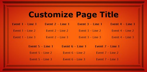 7 Events / Schedules in Orange color
