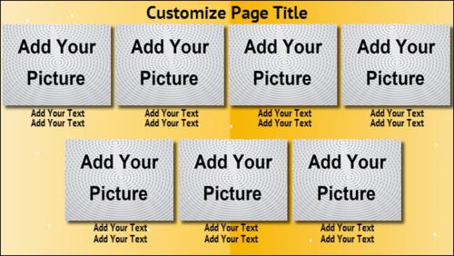 7 Product / Service with Image in Yellow color