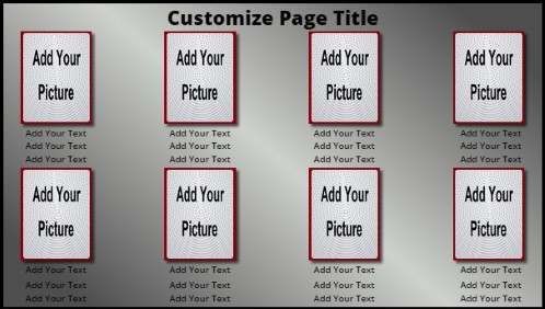 8 Product / Service with Animated Background in Grey color