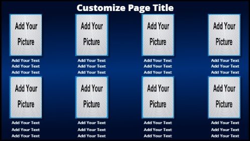 8 Product / Service with Animated Background in Navy color