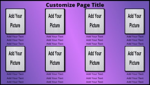 8 Product / Service with Animated Background in Purple color