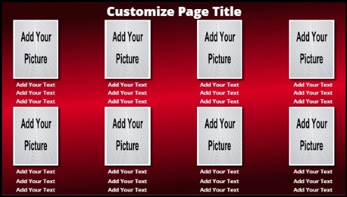8 Product / Service with Animated Background in Red color