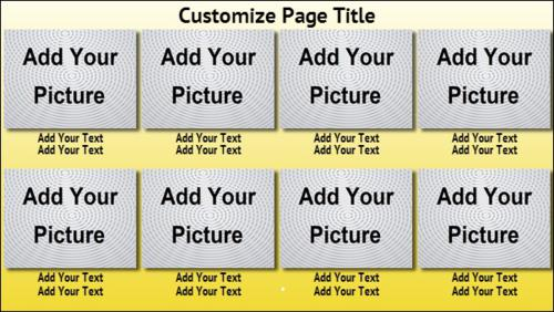 8 Product / Service with Image in Yellow color