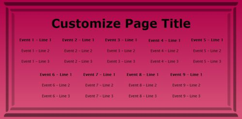 9 Events / Schedules in Pink color