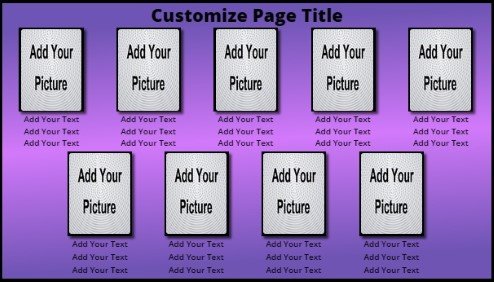 9 Product / Service with Animated Background in Purple color