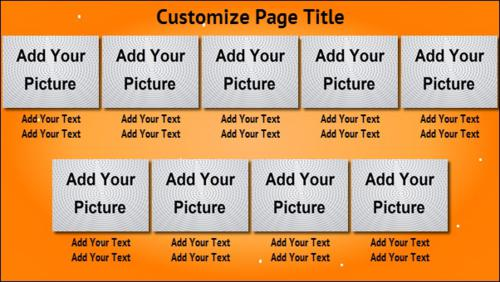 9 Product / Service with Image in Orange color