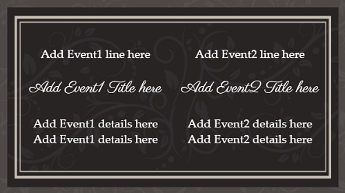 Event Template - Floral - 2 Items in White color