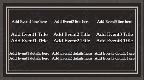 Event Template - Floral - 3 Items in White color