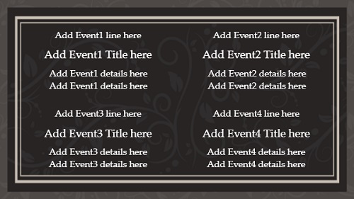 Event Template - Floral - 4 Items in White color