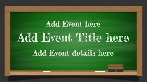 Event Template - Green Board - 1 Item in White color