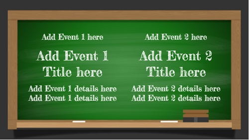 Event Template - Green Board - 2 Items in White color