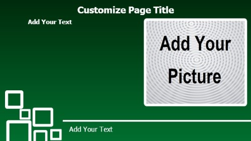 Product Advertising with Landscape Image in Green color