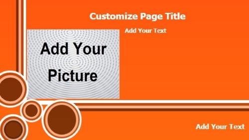 Product Advertising with Landscape Image in Orange color