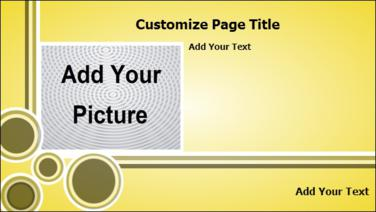 Product Advertising with Landscape Image in Yellow color