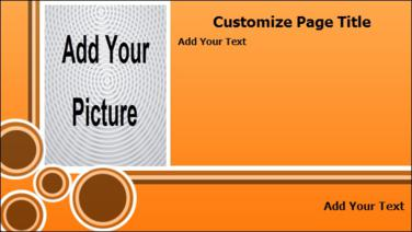 Product Advertising with Portrait Image in Orange color