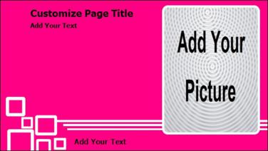 Product Advertising with Portrait Image in Pink color