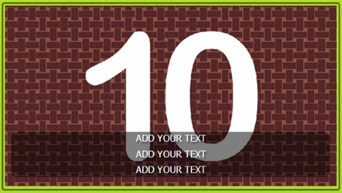 Template for 10 Image Slideshow with Text Overlay