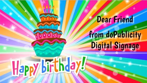 Birthday Greetings Digital Signage Template