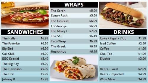 Template For Digital Menu Board Items - Digital menu board templates